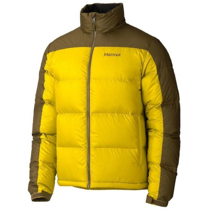 Marmot Guides Down Sweater Green Mustard-Brown Moss